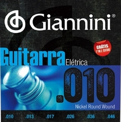 Encordoamento GIANNINI 0.10-0.46 Para Guitarra