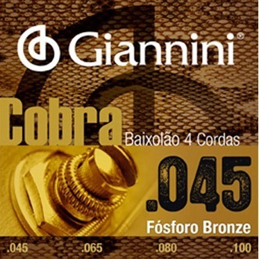 Encordoamento GIANNINI Para Baixolão 0.45-0.100 Escala 864MM
