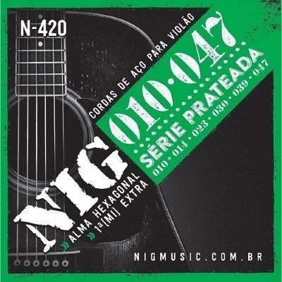 Encordoamento NIG N-420 0,10-0,47 Para Violão Aço