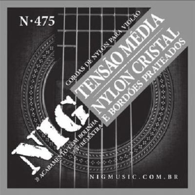 Encordoamento NIG N-475 Nylon Tensão Média Para Violão
