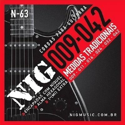 Encordoamento NIG N63 0,09-0,42 Para Guitarra