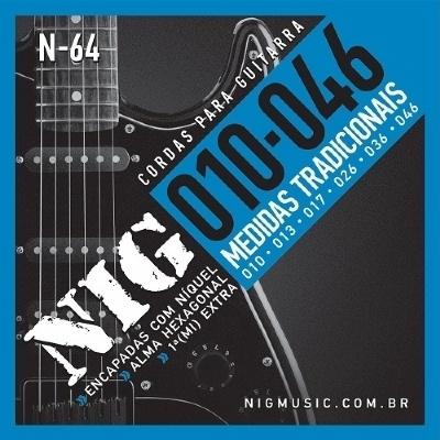 Encordoamento NIG Nn-64 0,10-046 Para Guitarra