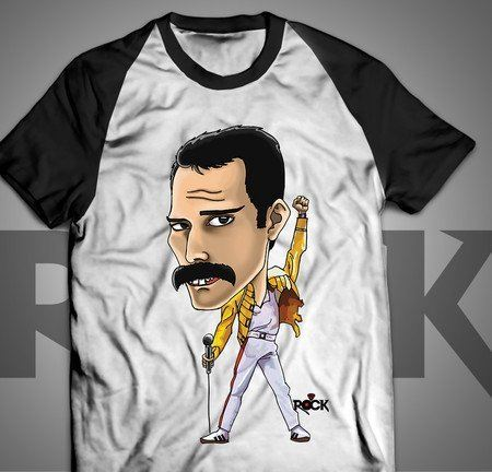 Freddie Mercury - Queen - Camiseta Exclusiva