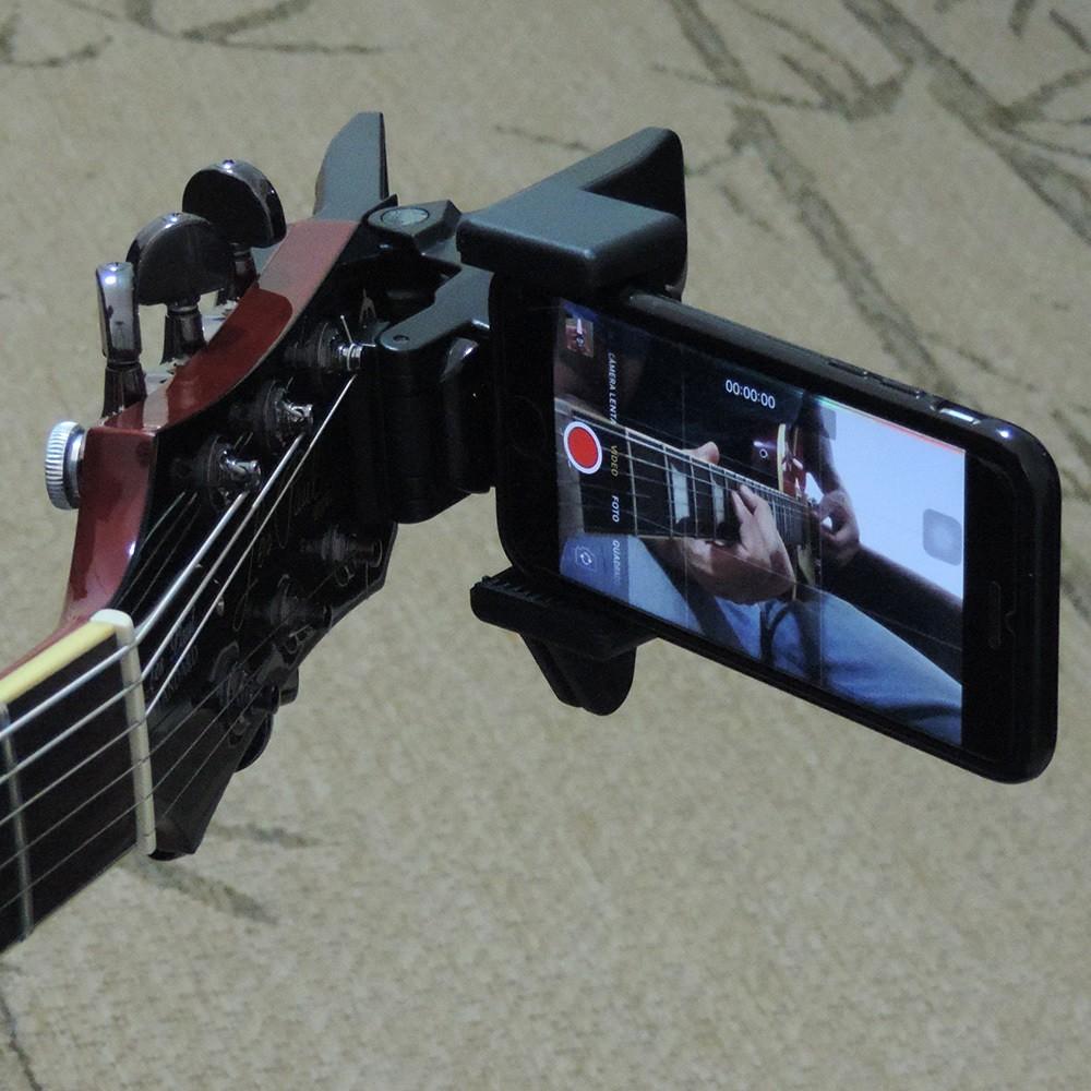 Guitar Selfie GS2 Suporte Smartphone Celular Headstock Violão Guitarra Baixo Etc.