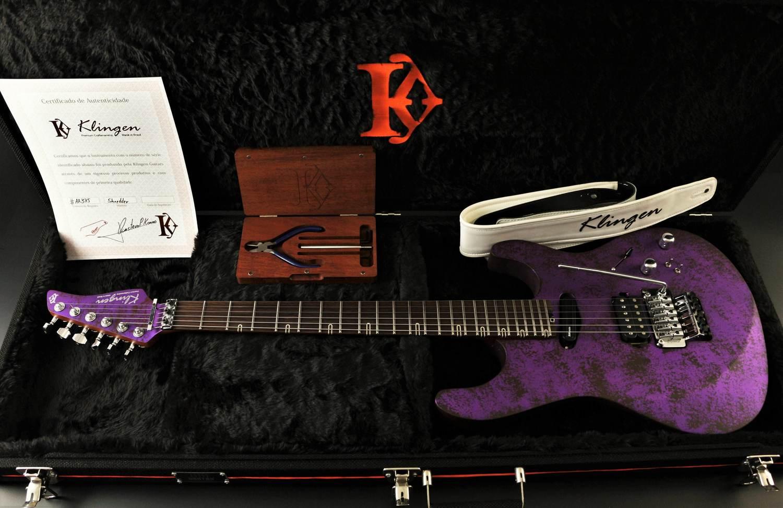 Guitarra Shredder 24 FR Roxo Marmorizado Acetinado