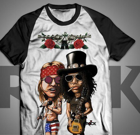 Camiseta Exclusiva Mitos do Rock Guns n Roses
