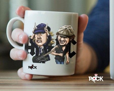 Caneca Exclusiva AC/DC – Mitos do Rock