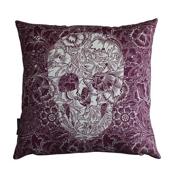 Almofada 45 Skull Flowers Purple – Rvalentim