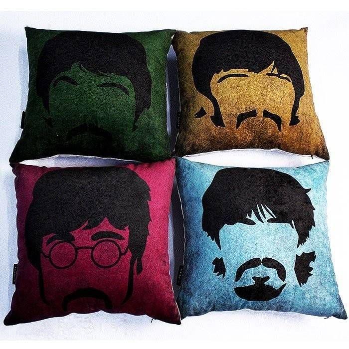 Kit Almofada Beatles 4 Peças