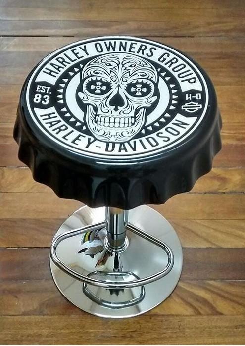 Banqueta Vintage Harley – Rvalentim