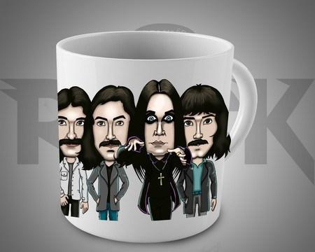 Caneca Exclusiva Mitos do Rock Black Sabbath