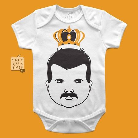 Body Infantil Let's Rock Baby Freddie MercuryBaby