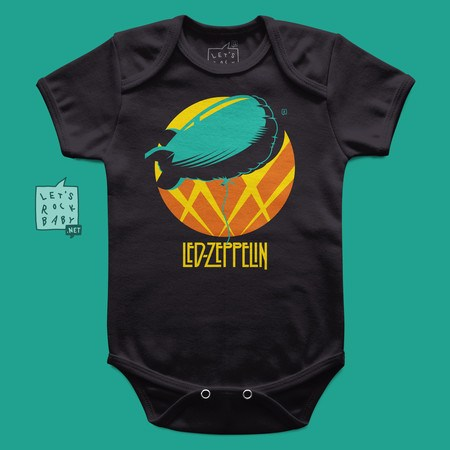 Body Infantil Led Zeppelin Balão