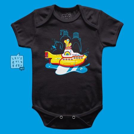 Body Infantil Yellow Submarine Banho