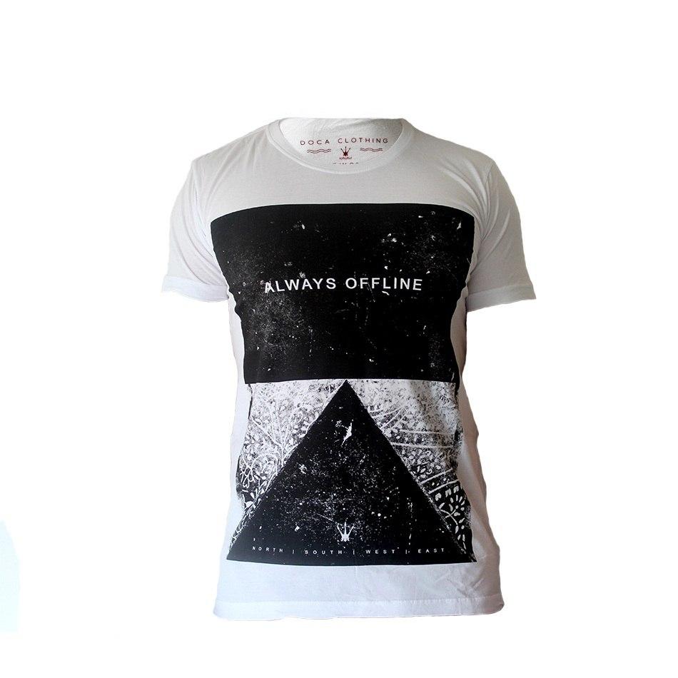 Camiseta Masculina Doca Clothing 100% Algodão Offline