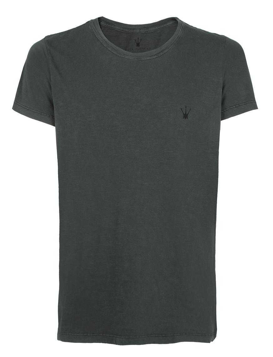 Camiseta Masculina Doca Clothing 100% Algodão Tridente Carvão