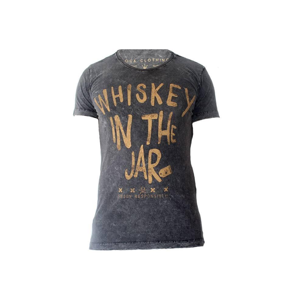 Camiseta Masculina Doca Clothing 100% Algodão Whisky