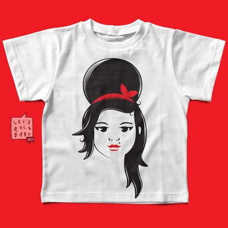 Camiseta Infantil Amy Winehouse Baby