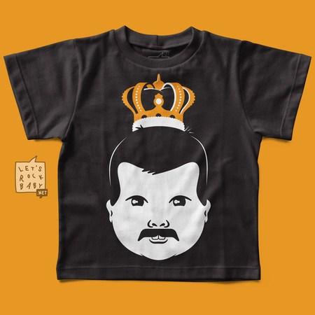 Camiseta Infantil Baby Freddie Mercury
