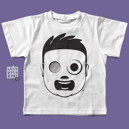 Camiseta Infantil Let's Rock Baby Slipknot Baby