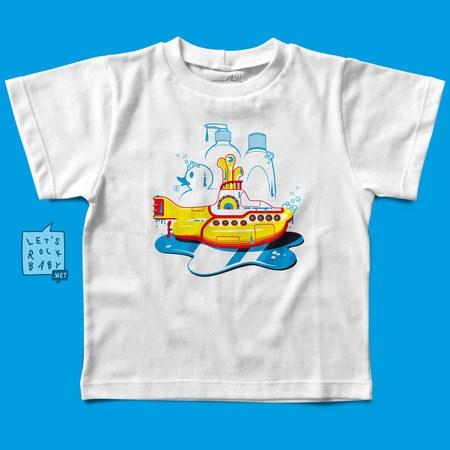 Camiseta Infantil Yellow Submarine Banho