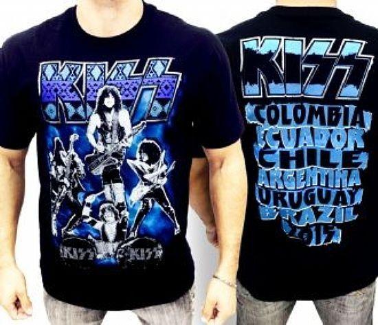 Camiseta - Kiss - Azul