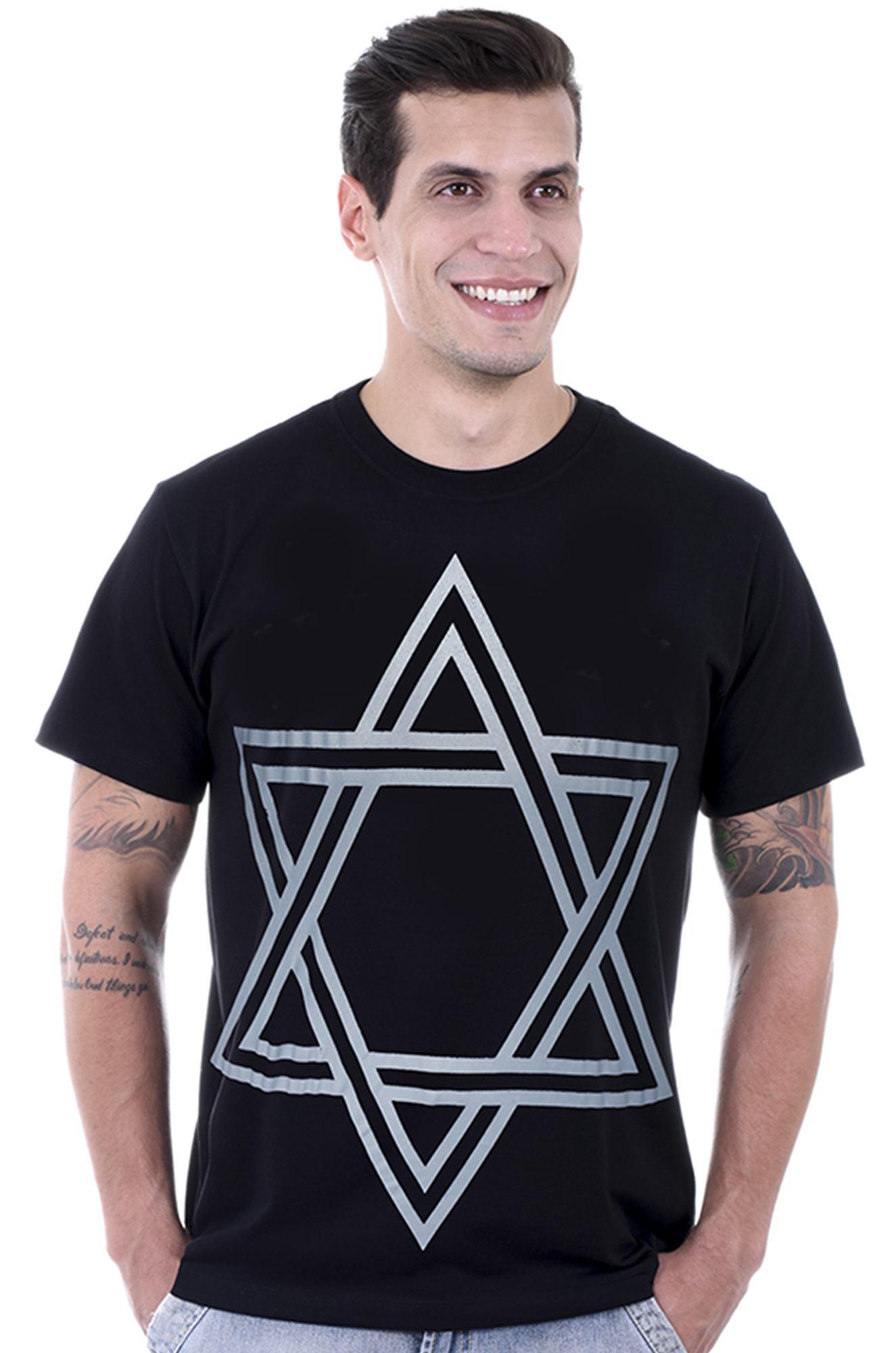 Camiseta Masculina Estampada Estrela  de Davi Preto Hardivision