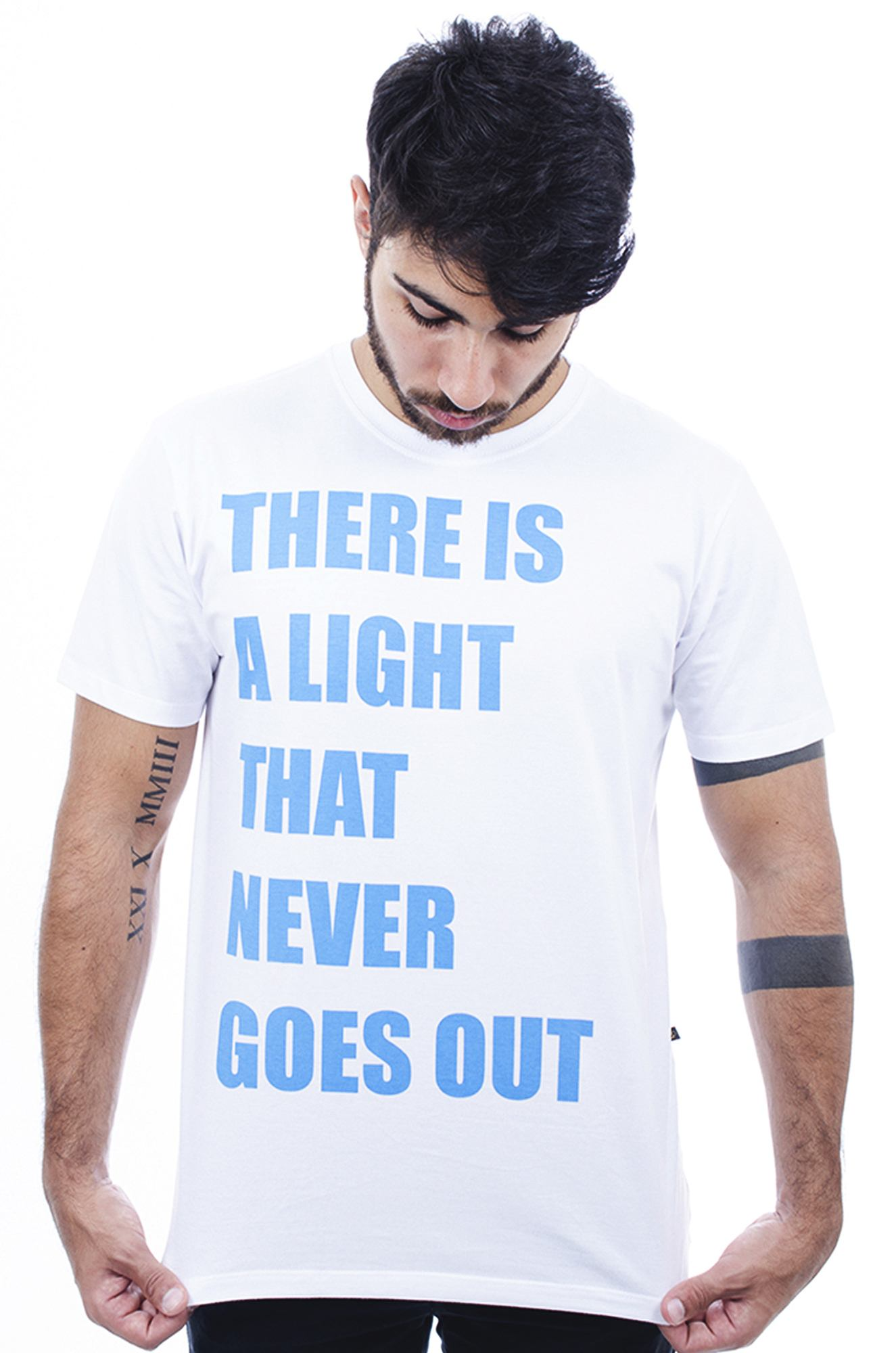 Camiseta Masculina Estampada  Hardivision Light Branco