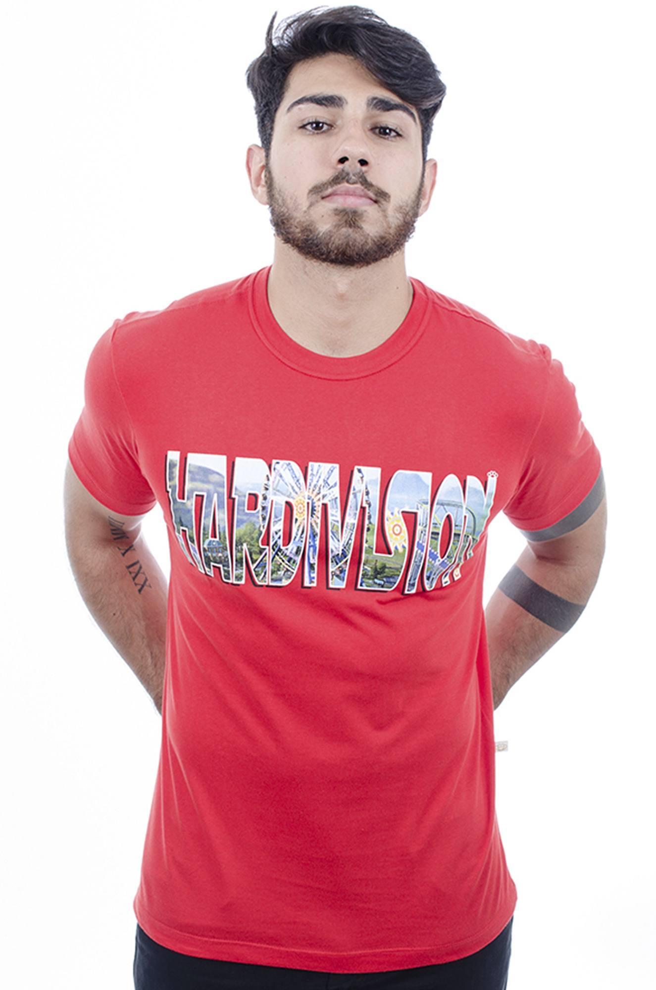 Camiseta Masculina Estampada Park Vermelho