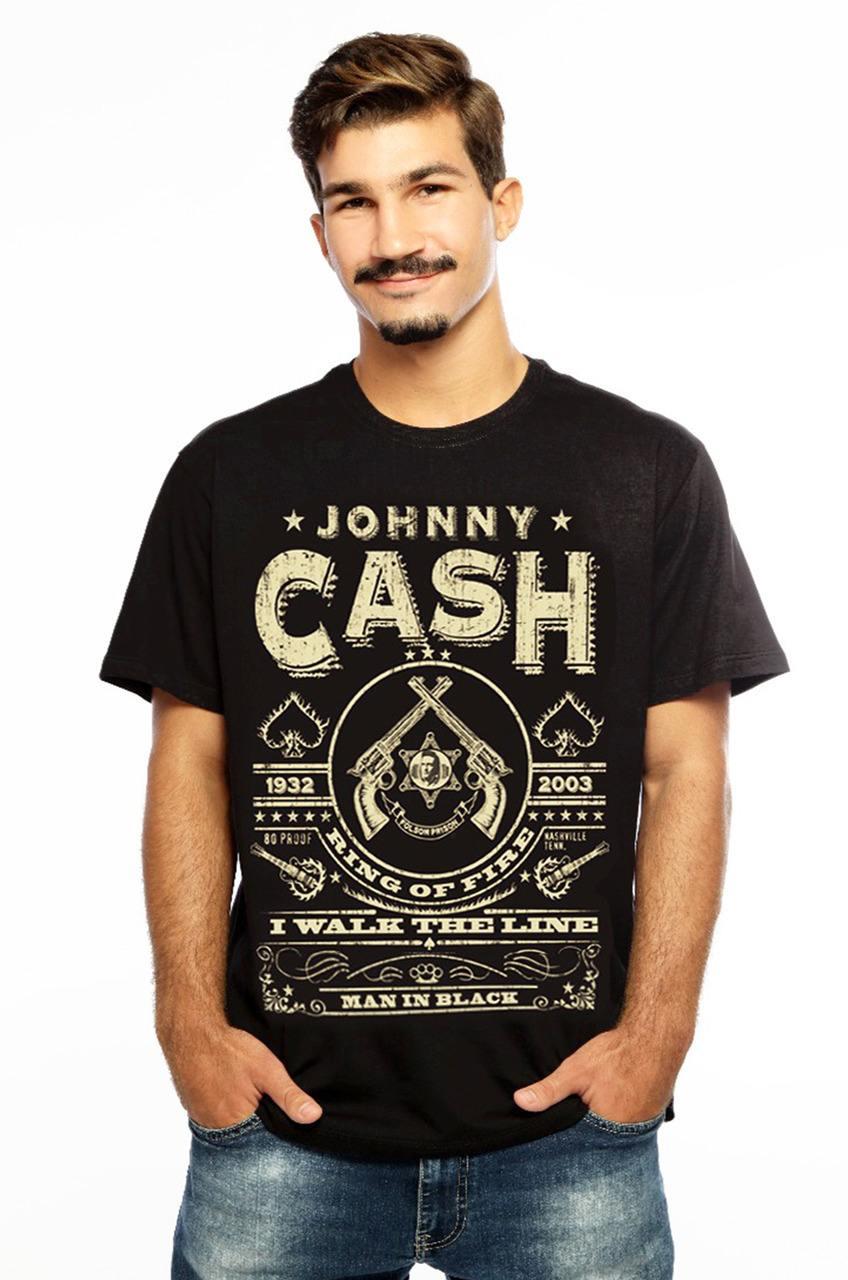 Camiseta MasculinaEstampada Rebel Preto Hardivision