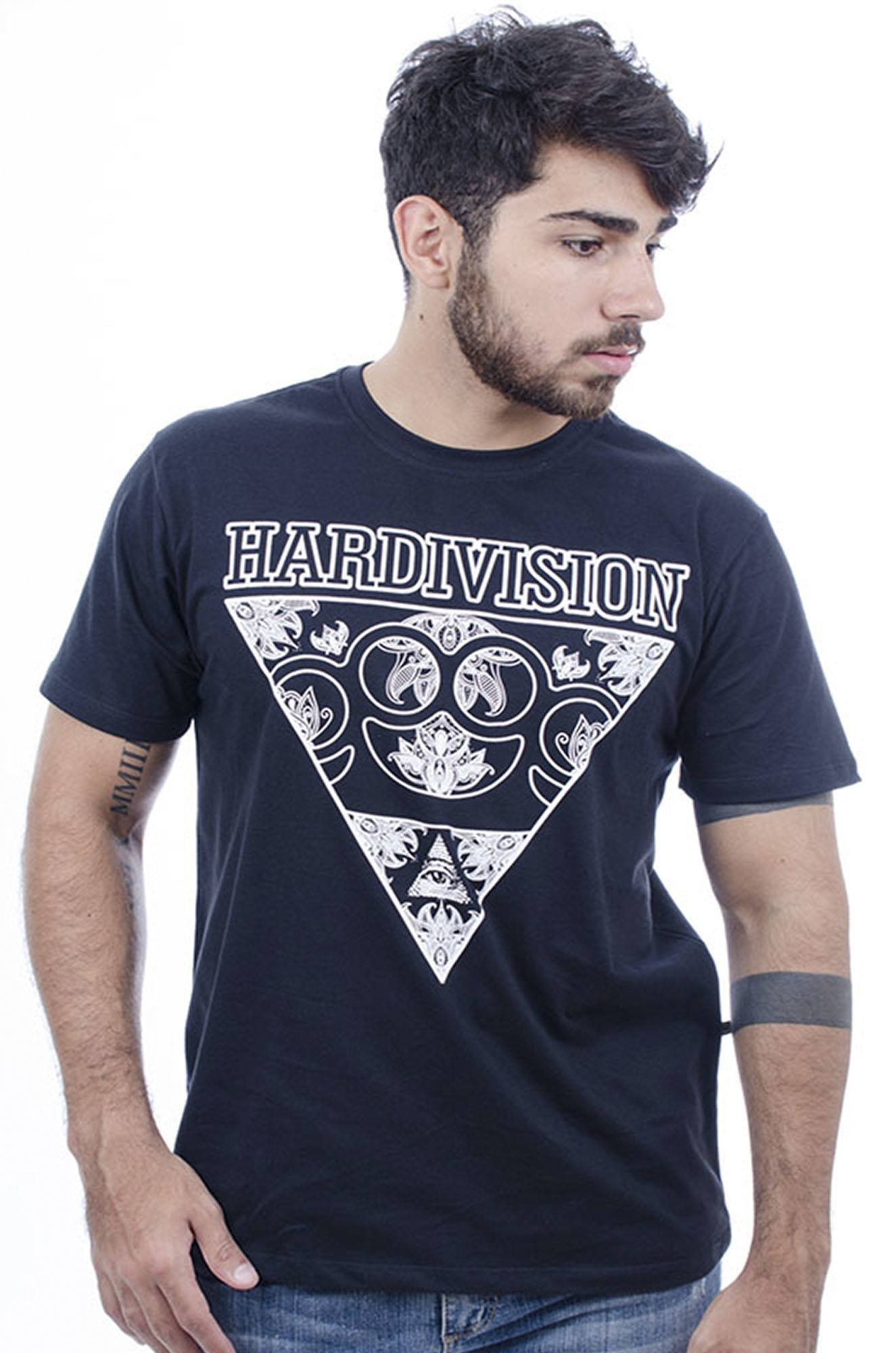 Camiseta MasculinaEstampada Skateboarder Preto Hardivision