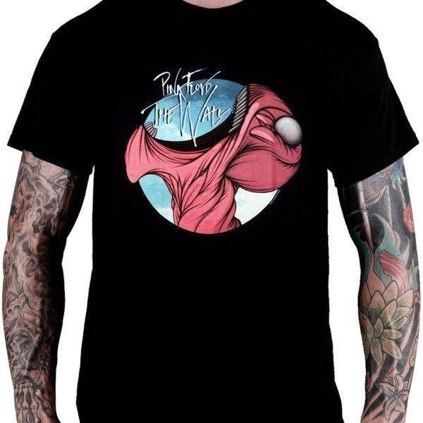 Camiseta The Wall Open Mouth Pink Floyd - Consulado do Rock