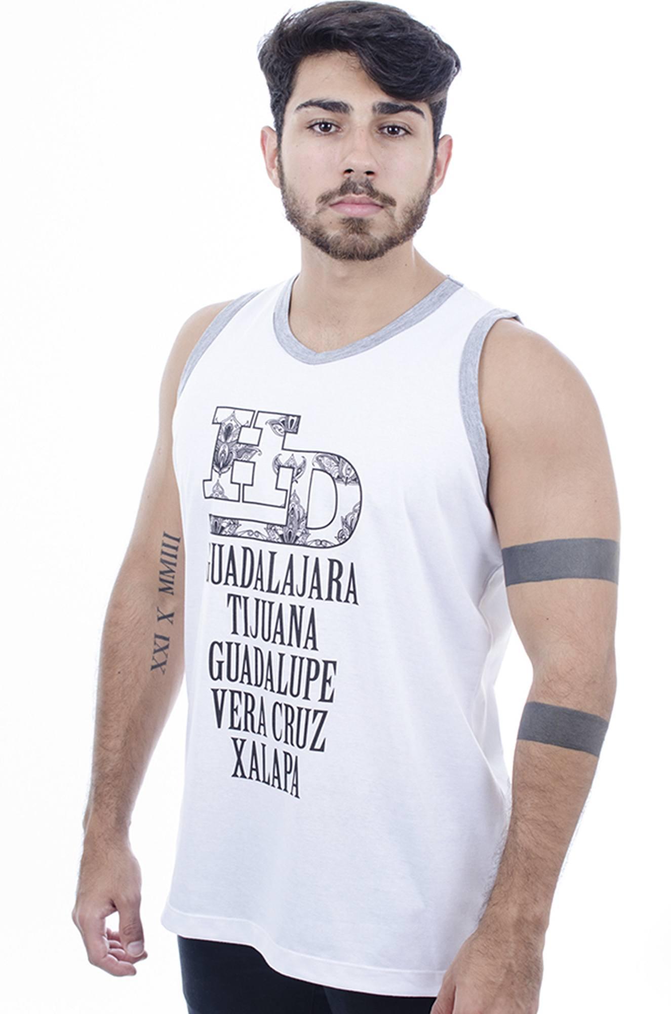 c7ad9d89d7 Camiseta Regata Masculina Hardivision Xalapa Branco