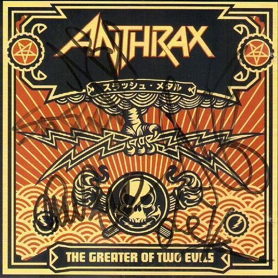 CD – Anthrax The Greater of Two Evils - Autografado