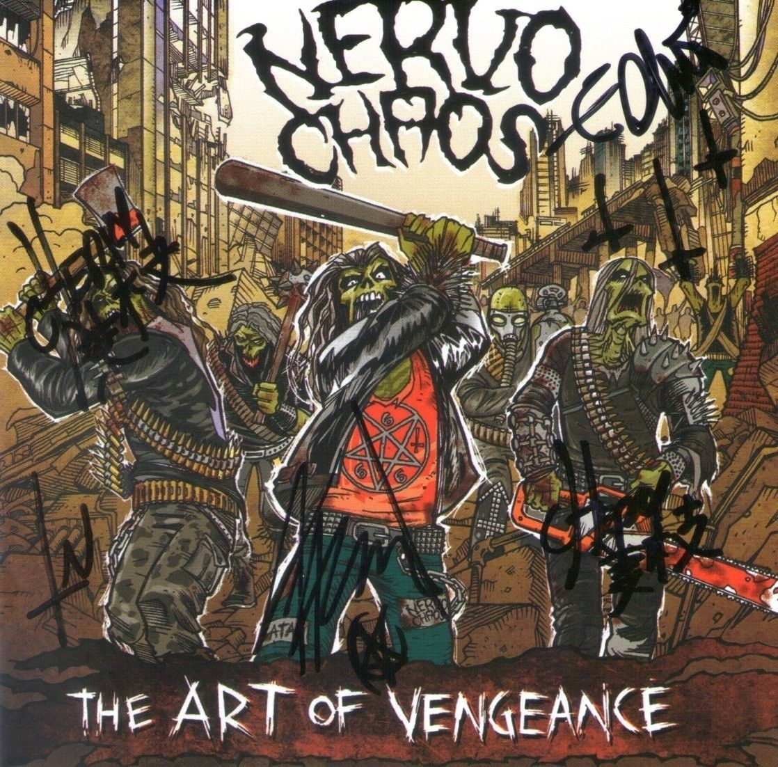 CD - NervoChaos - The Art of Vengeance – Autografado