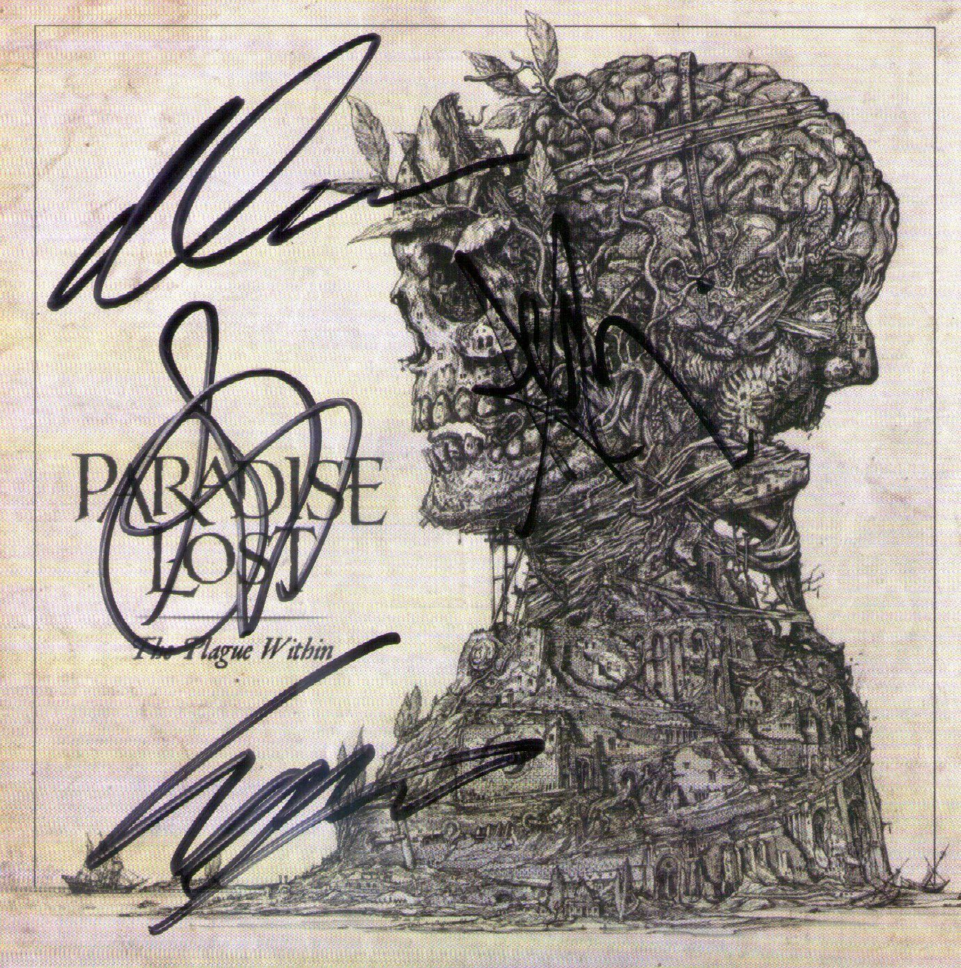 CD – Paradise Lost – The Plague Within – Autografado