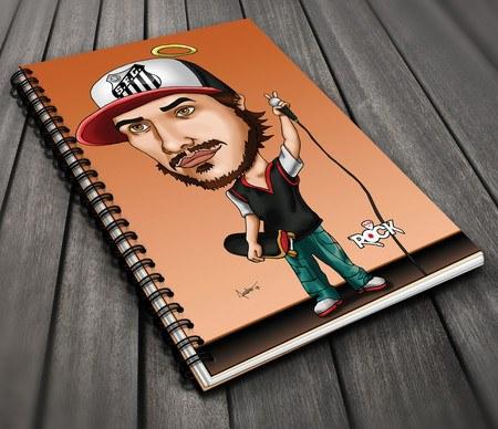 Caderno Exclusivo Mitos do Rock Charlie Brown Jr