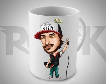 Caneca Exclusiva Mitos do Rock Chorão Charlie Brown Jr