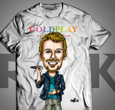 Chris Martin - Coldplay - Camiseta Exclusiva