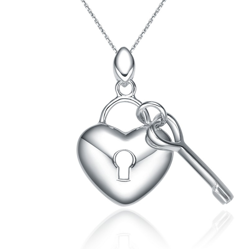 Corrente Tita Karan Chave e Coração em Prata De Lei