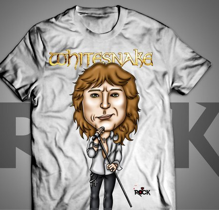 David Coverdale - Whitesnake - Camiseta Exclusiva