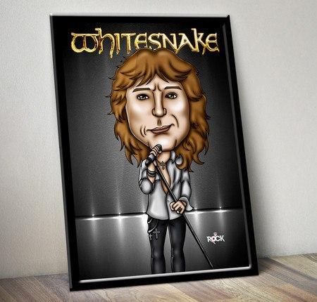 Pôster com Moldura Mitos do Rock David Coverdale Whitesnake