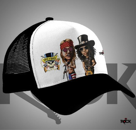 Boné Trucker Mitos do Rock Guns n Roses