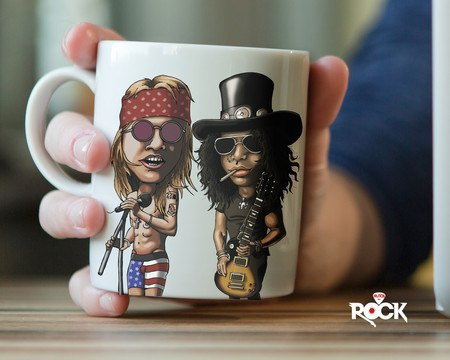 Caneca Exclusiva Guns n Roses – Mitos do Rock