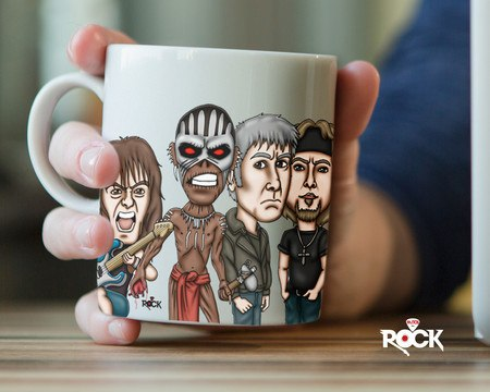 Caneca Exclusiva Mitos do Rock Iron Maiden 2016