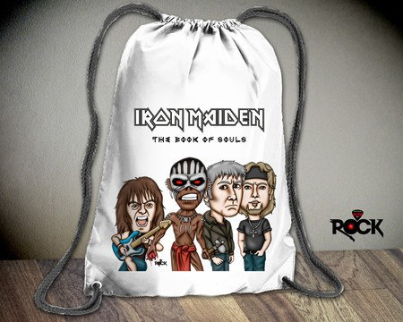 Mochila Saco Iron Maiden 2016 – Mitos do Rock