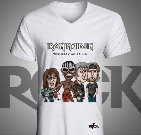 Camiseta Mitos do Rock Feminina Babylook Iron Maiden