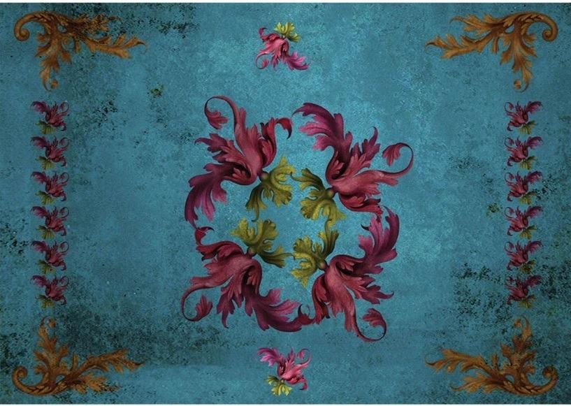 Jogo Americano Barroco Blue (2 peças) – Rvalentim