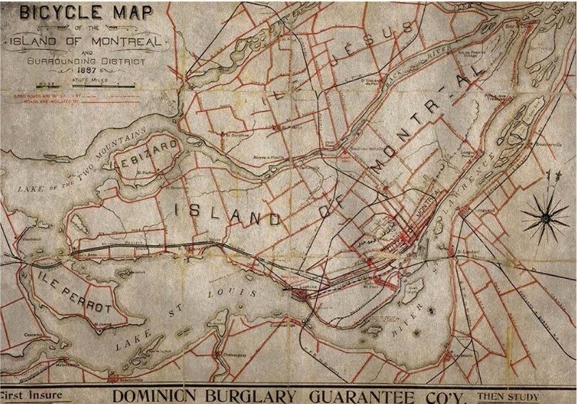 Jogo Americano Bike Map (2 peças) – Rvalentim