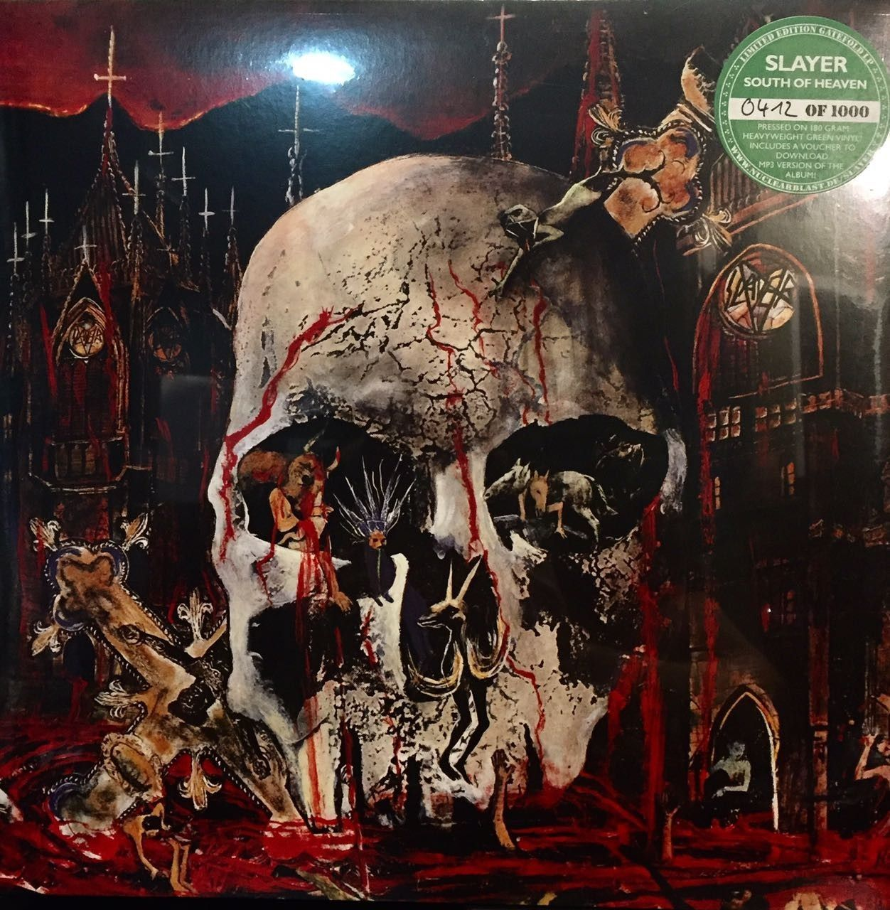 LP – Slayer ‎– South of Heaven ( LP Green Vinyl Numerado Limitado Importado Americano